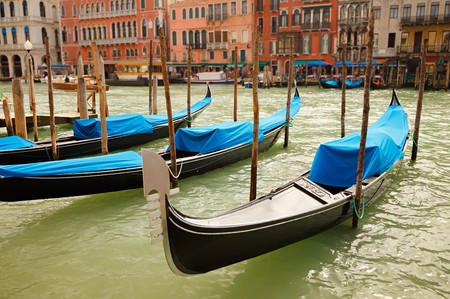 Traditional gondolas in Venice Stock Photo - 8092932