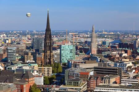 hamburg: View on Hamburg from Michel