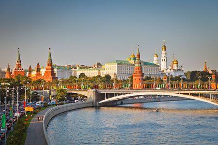 kremlin: Kremlin van Moskou bij zons ondergang