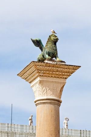 leon alado: Famoso le�n alado veneciano