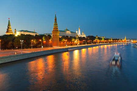 Moscow kremlin at night Stock Photo - 8092979