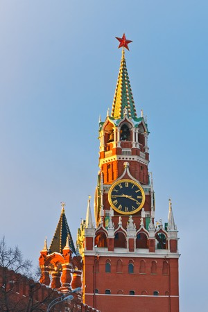 Spasskaya tower of Moscow Kremlin  photo