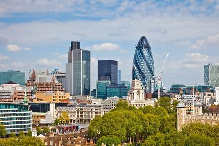 Vue sur la ville de Londres.