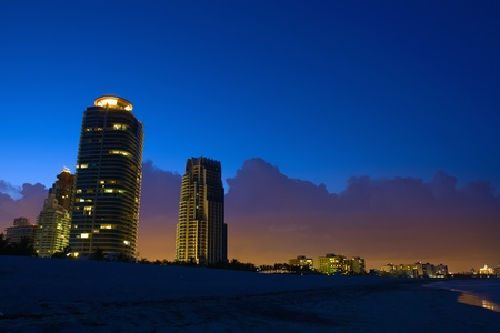 Miami South Beach at night photo