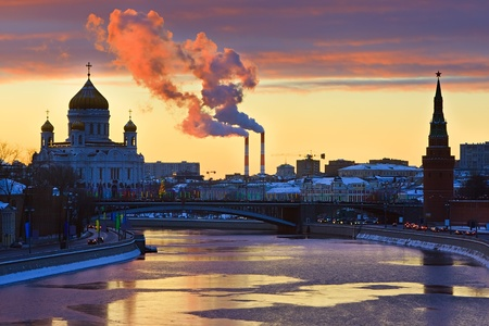 Sunset over Moscow photo