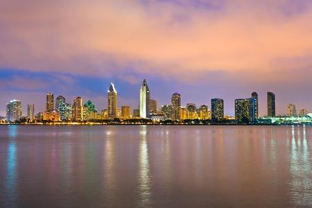 san   diego: Downtown San Diego at night