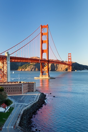 Golden Gate Bridge at sunset, San Francisco photo
