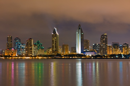 Downtown San Diego at night photo