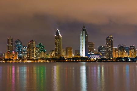 san   diego: Downtown San Diego at night Stock Photo