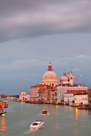 Basilica of Santa Maria della Salute at sunset, Venice Stock Photo - 8570730
