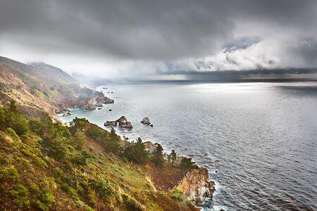 Pacific coast in Big Sur, California, US photo