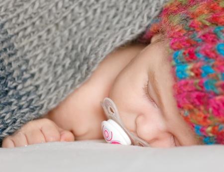 Sleeping baby girl photo