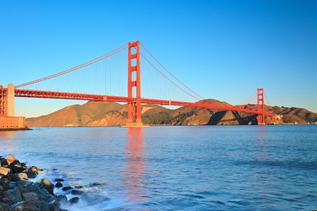 Golden Gate Bridge at morning, San Francisco Stock Photo