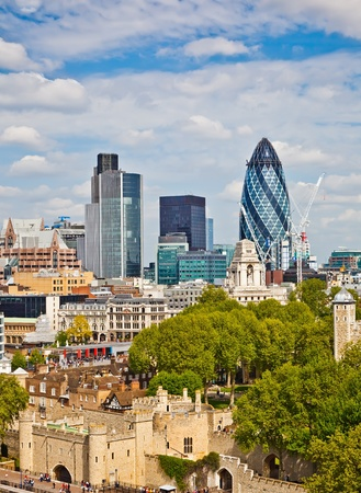 london city: View on city of London