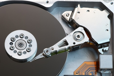 Open hard disk drive photo