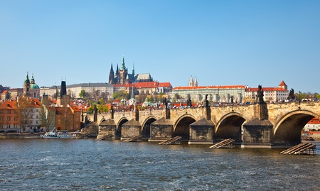 View on Charles bridge, Prague photo