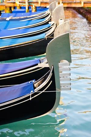 Traditional gondolas in Venice Stock Photo - 8762087