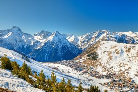 Ski resort in French Alps Stock Photo - 8944571
