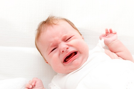 Crying baby photo