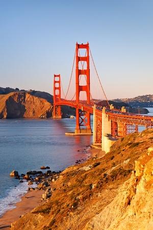 Golden Gate Bridge at sunset Stock Photo - 9019831