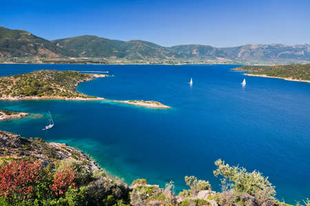 Yachts in quiet bay, Greece Stock Photo - 9081027