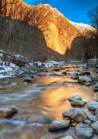 Mountain river in Alps Stock Photo - 9081023