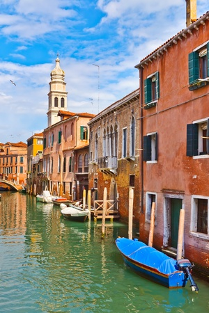 Canal in Venice at sunny day Stock Photo - 9081024