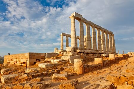 Ruins of Poseidon temple, Greece photo