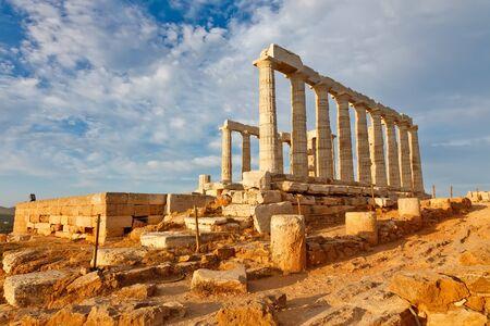 poseidon: Ruins of Poseidon temple, Greece Stock Photo