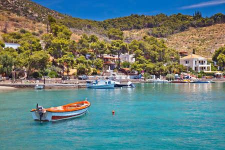 poros: Touristic area on Poros, Greece Stock Photo