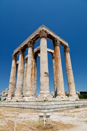 Temple of Olympian Zeus, Athens, Greece  photo