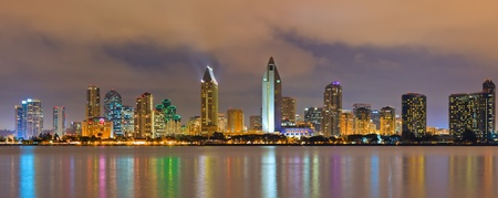 Downtown San Diego at night Stock Photo - 9297069