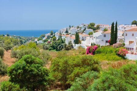Spanish landscape, Nerja, Costa del Sol, Spain photo