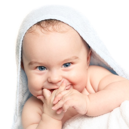 Cute smiling baby  photo
