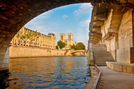 seine: Rivier de Seine, Paris, Frankrijk Stockfoto