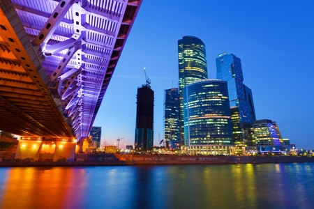 Moscow City at night Stock Photo - 9696182