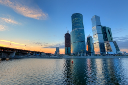 Scyscrapers de la ciudad de Moscú
