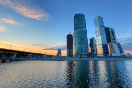 Scyscrapers van de stad Moskou