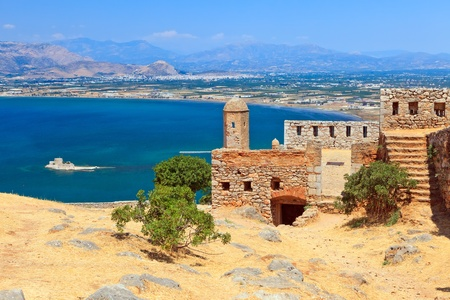 The ruins of Palamidi castle in Nafplion, Greece  photo
