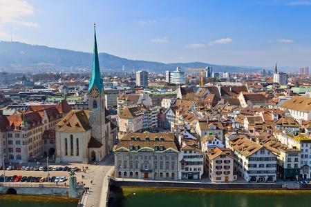 zurich: View on Zurich, Switzerland Stock Photo
