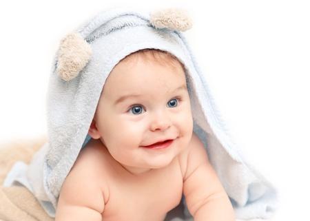 bright eyed: Cute baby Stock Photo