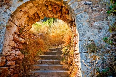Stairways to the Palamidi fortress, Nafplio photo