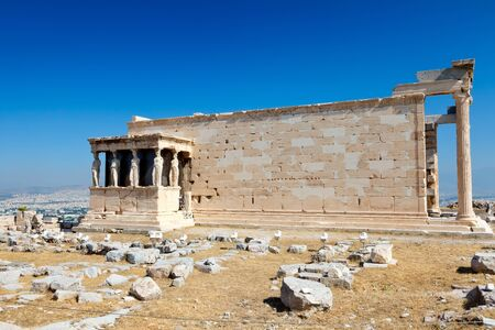 Temple in Acropolis, Athens photo