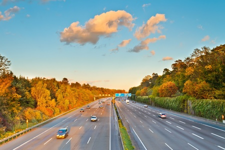 expressway: Highway in Germany Stock Photo