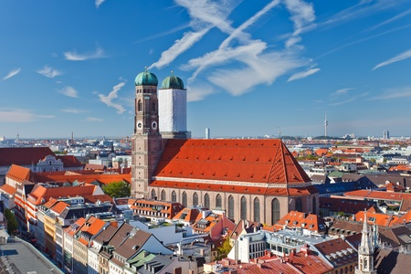 Frauenkirche en Marienplatz, Munich Foto de archivo