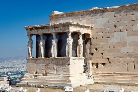 Erechtheum Temple in Acropolis, Athens photo