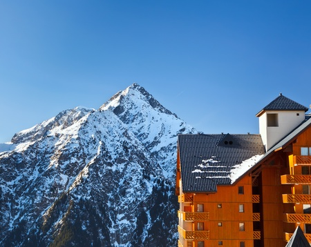 Hotel in French Alps Stock Photo - 10312547