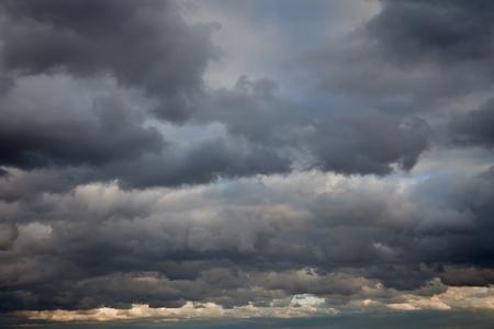 thundercloud: tempestoso cielo di sfondo Archivio Fotografico