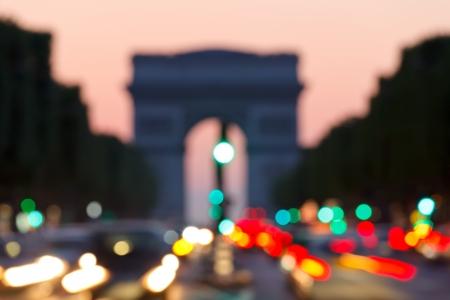 avenue: blured background: arc de triomphe, paris