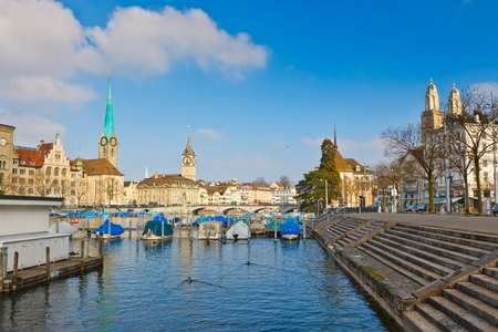 zurich and limmat river Stock Photo - 10311732